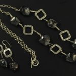 """Coal Mine"" Necklace and Earrings"